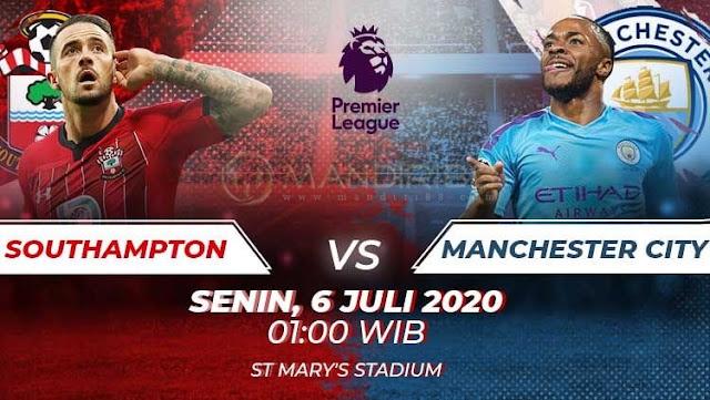 Prediksi Southampton Vs Manchester City, Senin 06 Juli 2020 Pukul 01.00 WIB @ Mola TV