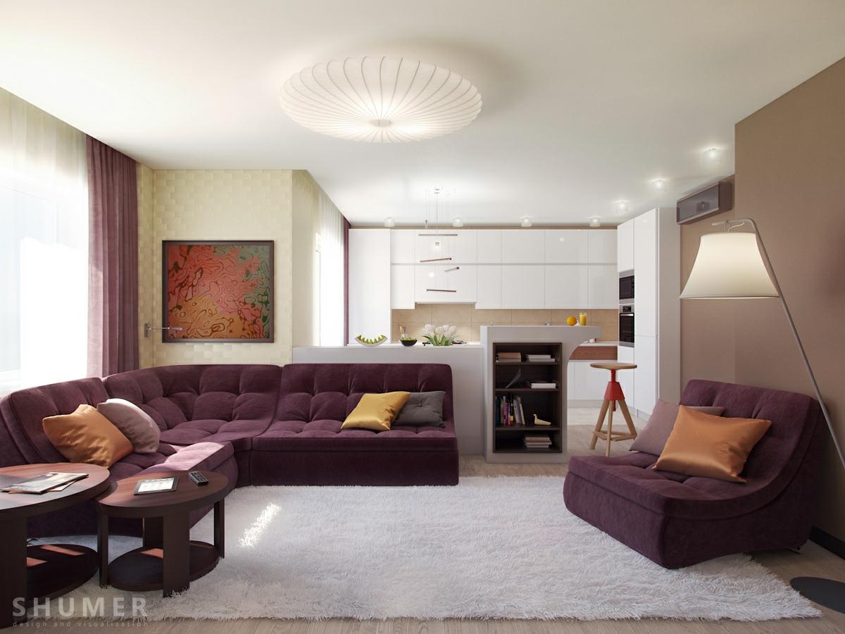 Jalan Rumah Living Modern With Nature Tones & Color Blasts