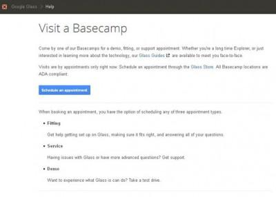 Google Glass Bisa Dicoba Secara Gratis di Google Basecamp