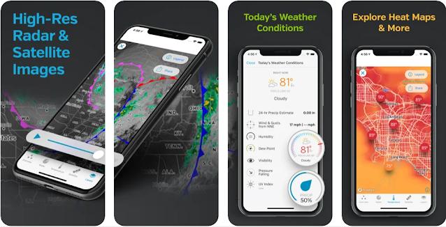 أحسن تطبيقات الطقس للاندرويد و الايفون لسنة 2021
