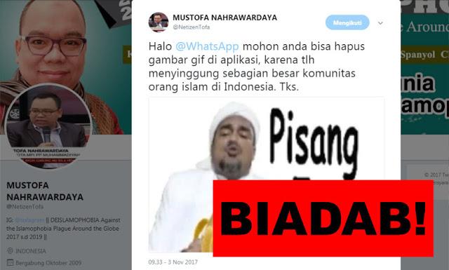 Astaghfirullah! GIF Lecehkan Habib Rizieq, Netizen Kecam Aplikasi WA dan Twitter