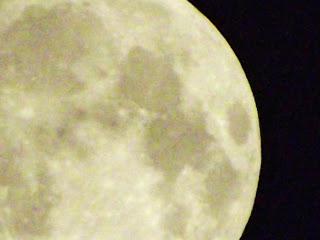 Harvest Moon and Half Moon over Tyneside