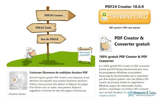 PDF24 Creator : un vrai couteau suisse du PDF pour créer, éditer et convertir vos fichiers PDF