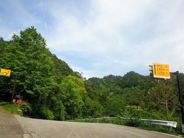 クリスタルライン 昇仙峡 分岐