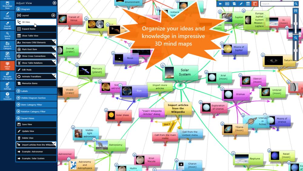 InfoRapid KnowledgeBase Builder mapas mentales