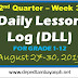 Week 3 - 2nd Quarter Daily Lesson Log (DLL), SY 2019-2020