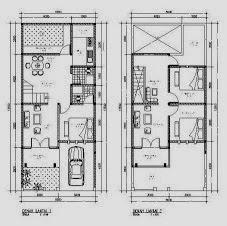 type of house: desain renovasi rumah type 45 menjadi 2 lantai
