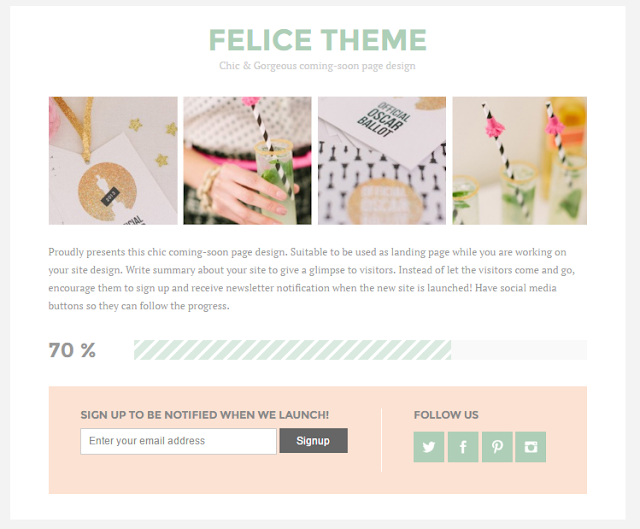 Felice coming-soon blogger theme