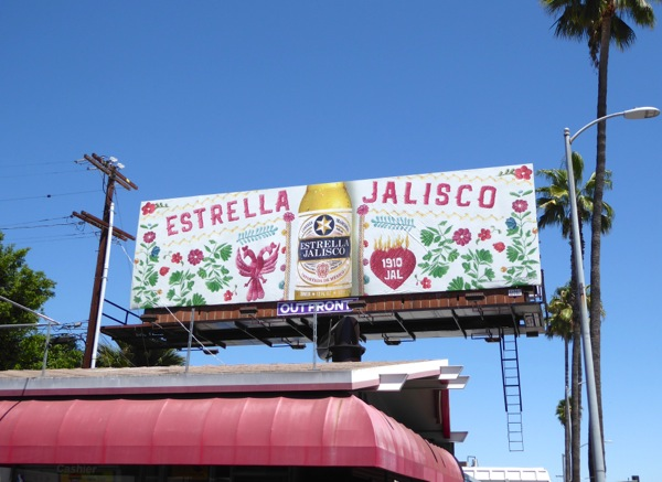 Estrella Jalisco Mexican beer billboard