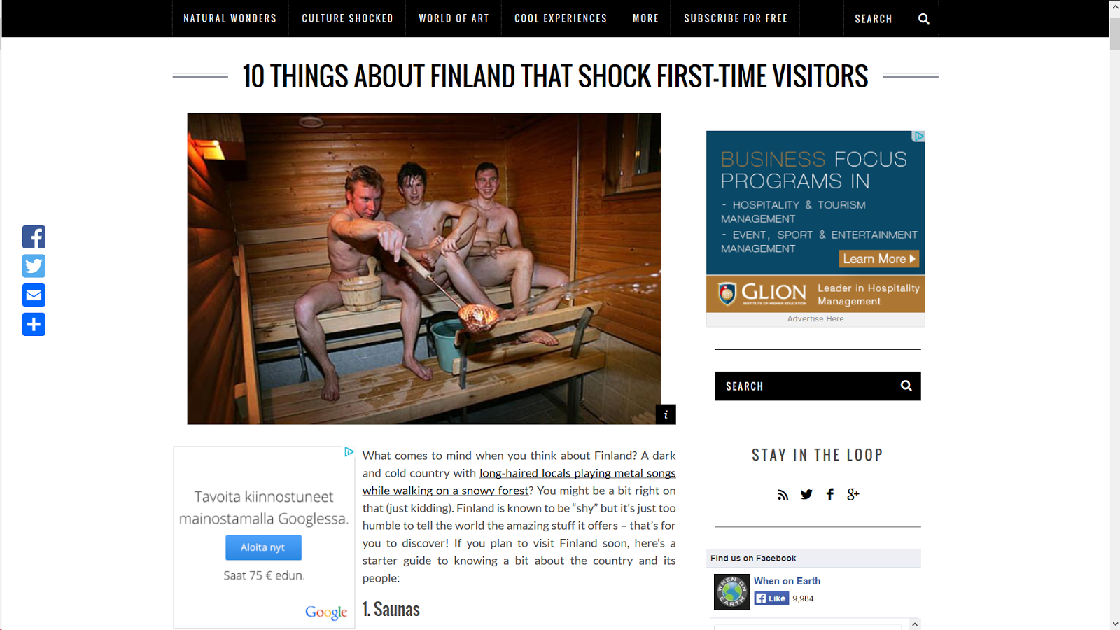 10 things about Finland that shock first-time visitors