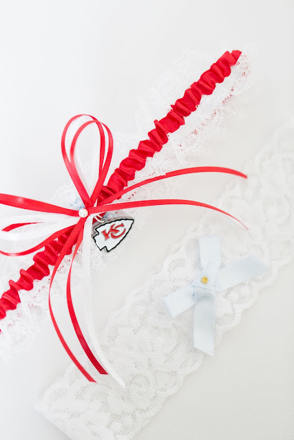 Kansas City Chiefs Lace Wedding Garter by Sugarplum Garters