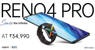 oppo reno4 pro price on amazon and flipkart