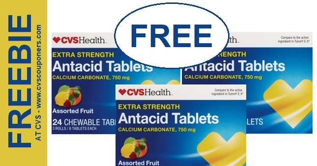 FREE CVS Health Antacid Tablets at CVS 915-921