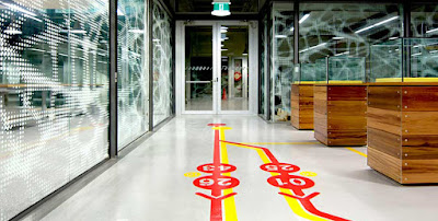 3d flooring graphics for corridors at commercial places