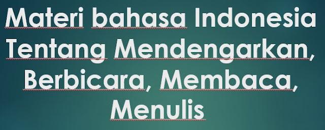 MATERI BAHASA INDONESIA PRAKTEK BERBICARA KELAS 1, 2, 3, 4, 5, 6 SD, MI