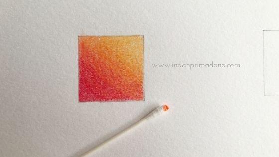 teknik blending, teknik blending dengan pensil warna, teknik mewarnai, teknik mencampur warna, mencampur pensil warna, blending colors