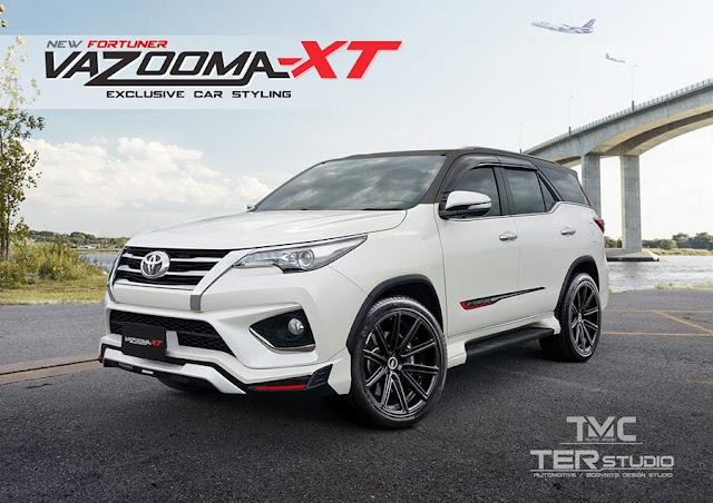 Tampilan body kit modifikasi untuk Toyota Fortuner