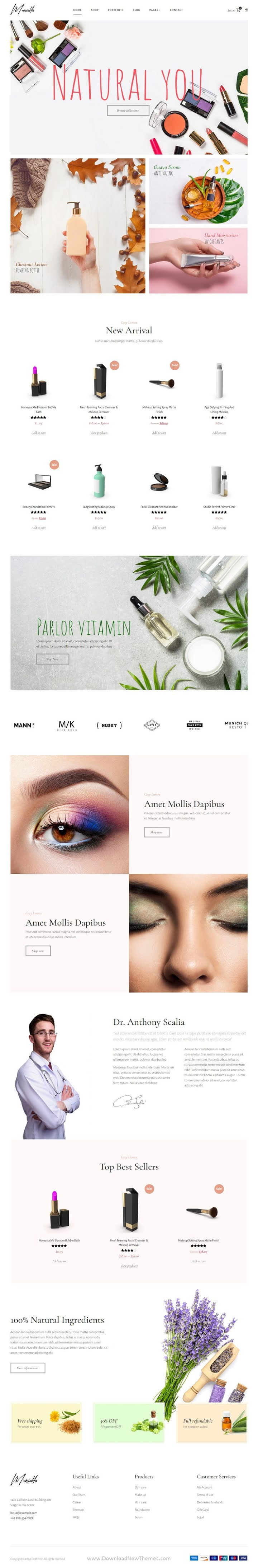 Cosmetics and Beauty Shop Template Kits