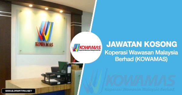 jawatan kosong Koperasi Wawasan Malaysia Berhad (KOWAMAS) 2020