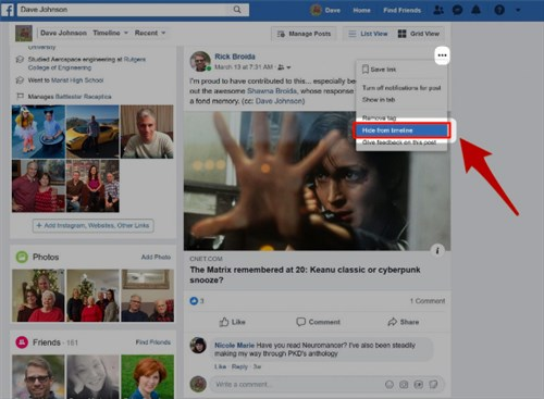 How To Remove Facebook Post