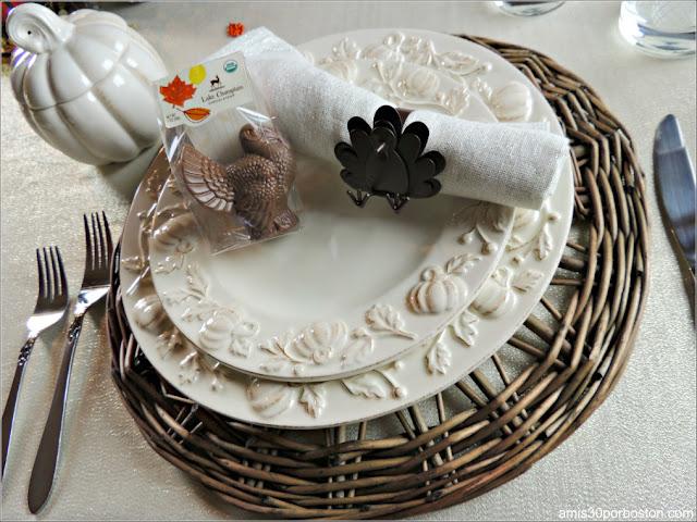 Vajilla y Decoraciones Cena de Acción de Gracias 2017