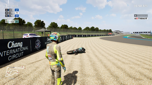 MotoGP 21 Recuperación de la moto