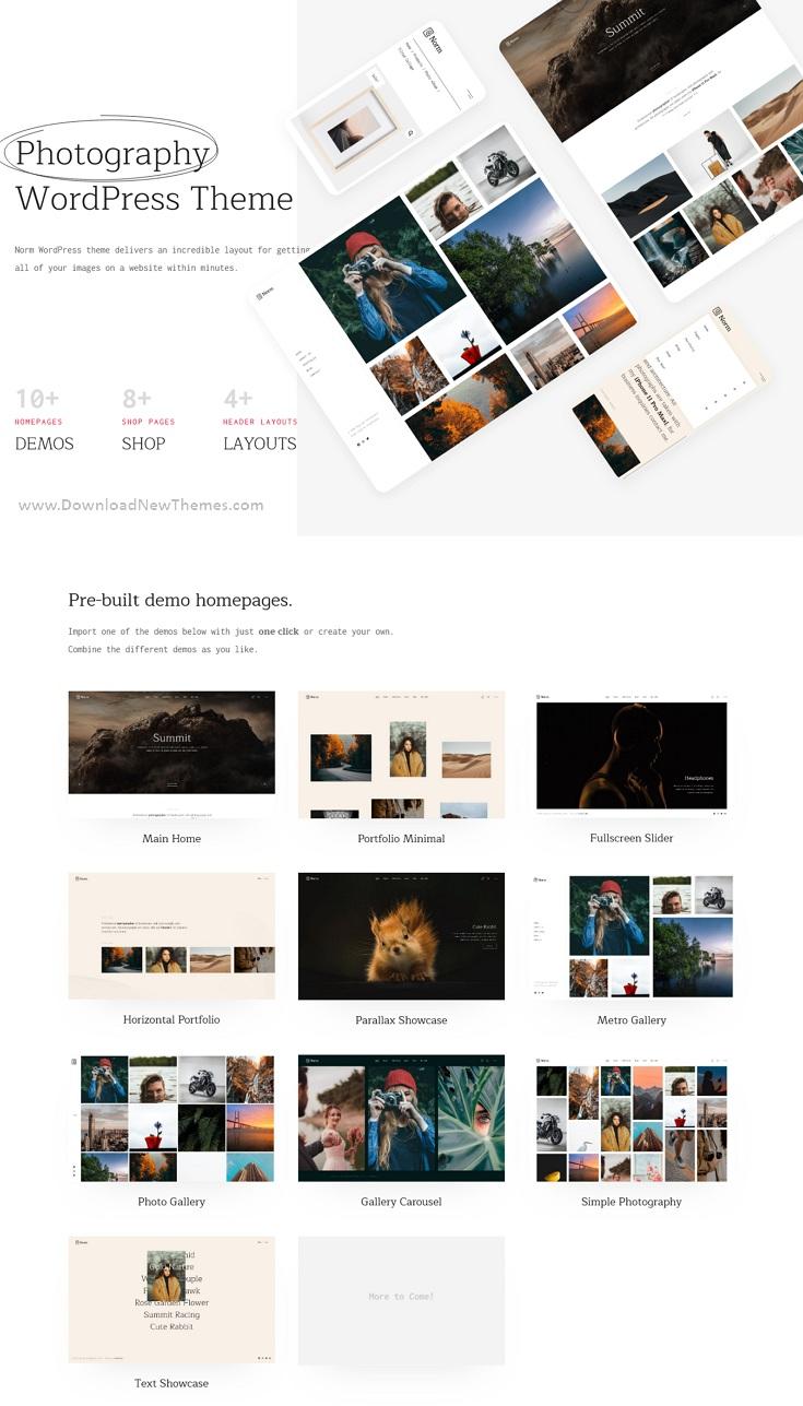 Best Photography Elementor WordPress Theme