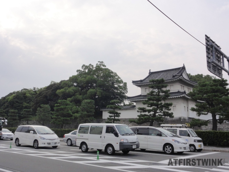 white cars Kyoto Nijo castle Japan