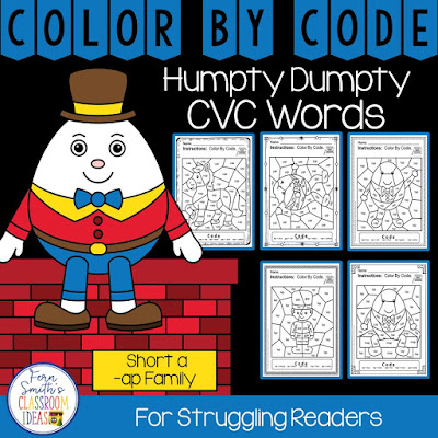 A resource to give your struggling readers some confidence while reviewing the -ap family words by Fern Smith's Classroom Ideas.