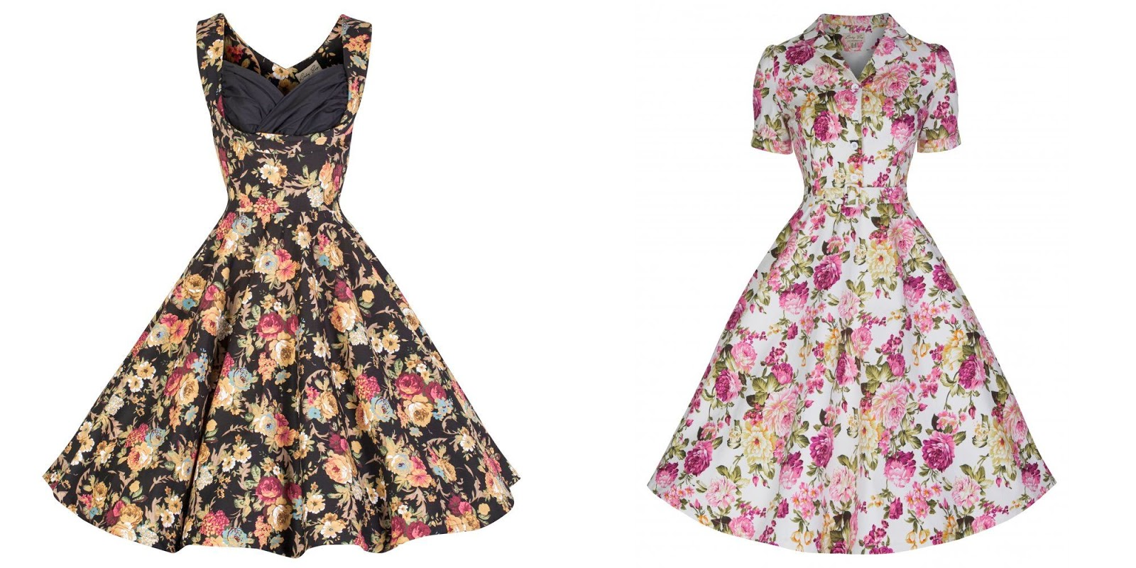 1712e03ddcbe 'Ophelia' Vintage 1950's Black Floral Spring Garden Party Picnic Dress was  my first Lindy Bop purchase. I feel in love with that dress because of her  ...