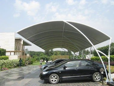 Tenda Membrane Sebagai Tempat Parkir Mobil