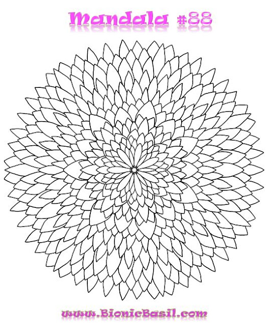 Mandalas on Monday @BionicBasil® Colouring With Cats #88 Mandalas on Monday @BionicBasil® Colouring With Cats #88 Downloadable Image