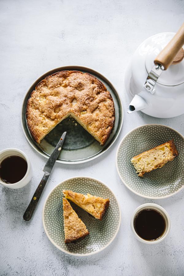 Gâteau moelleux aux pommes vegan