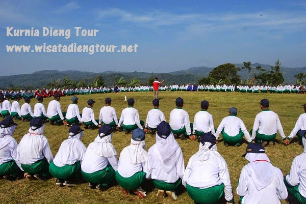 outbound di lapangan wonosobo