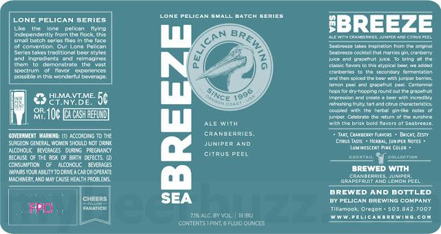 Pelican Brewing Seabreeze Coming To Lone Pelican Series