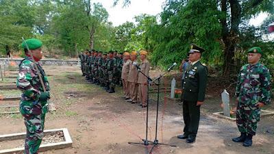 Danramil 04/Jebres Pimpin Upacara Pemakaman Militer Alm Mayor Purn H.M Soechemi Anggota Pepabri Surakarta
