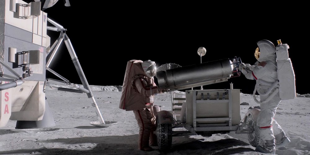 US astronaut and Soviet cosmonaut working together on the Moon in season 1 of 'For All Mankind'