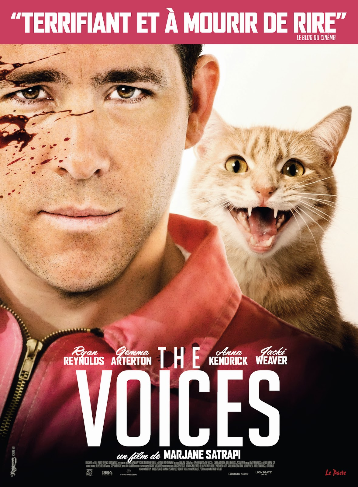 Affiche de The Voices, de Marjane Satrapi (2015)