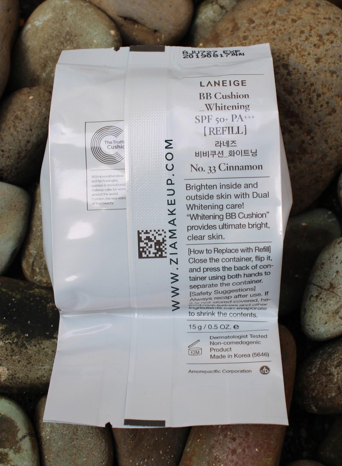 Review Laneige Bb Cushion Whitening Spf 50 Pa Ziamakeup