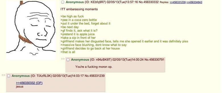 Drinking piss Greentext