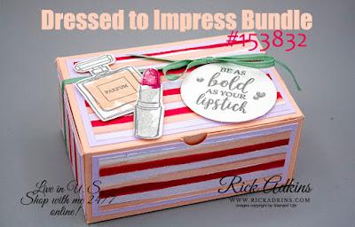 Dressed to Impress Bundle, Best Dressed Designer Series Paper, 3D Project, Rick Adkins, Stampin' Up!