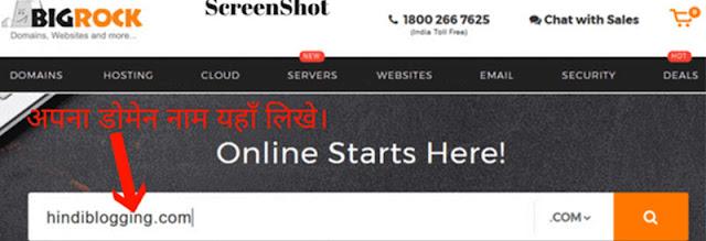 Bigrock Domain name Search hindi
