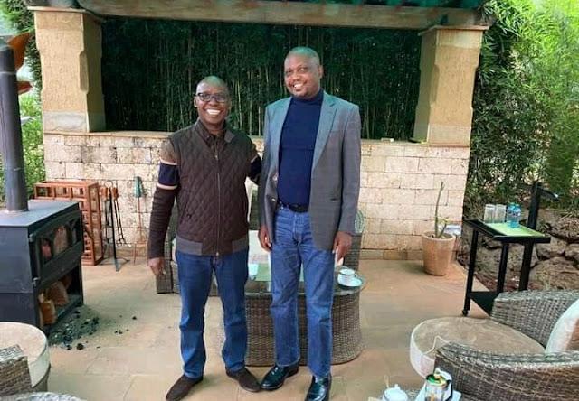 Gatundu South MP Moses Kuria and Jimmy Wanjigi photo