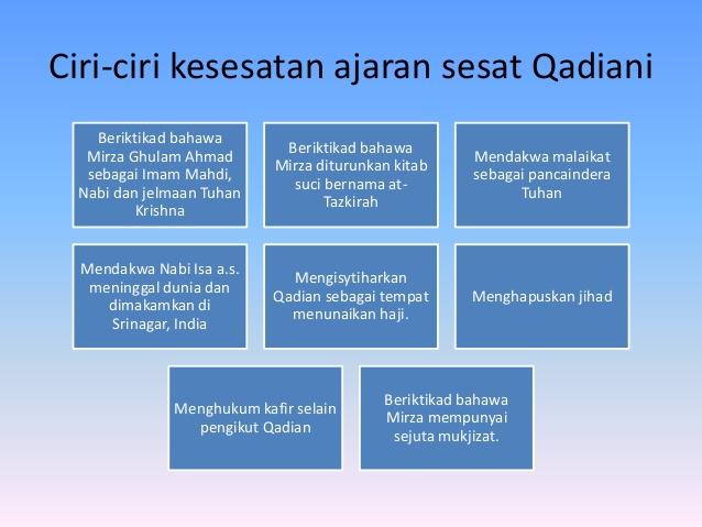 Mengapa Ajaran Qadiani Diisytiharkan Sesat?