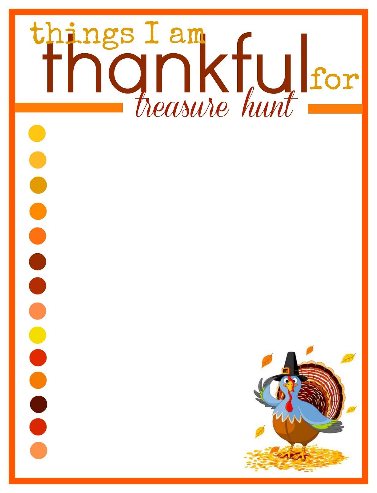 A Thanksgiving Treasure Hunt