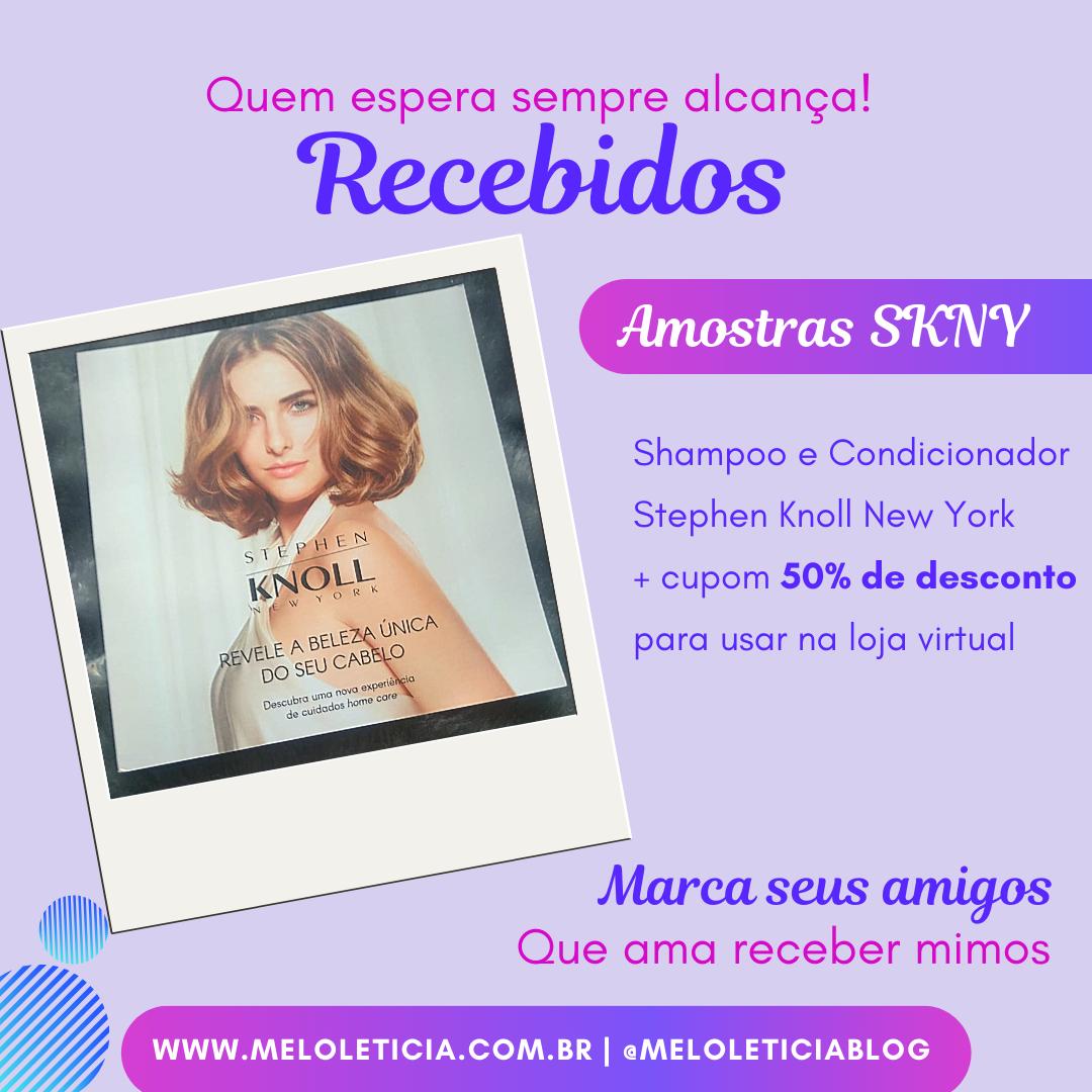 Amostras SKNY -Shampoo e condicionador