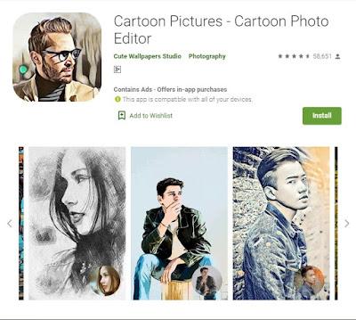aplikasi gratis dan terbaik ubah foto menjadi sketsa dan kartun