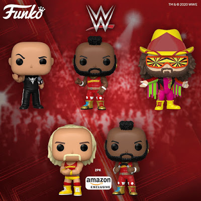 WWE SummerSlam Pop! Vinyl Figures by Funko with The Rock, Hulk Hogan, Mr. T & Macho Man Randy Savage