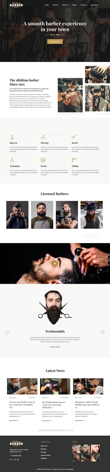 Barber Shop HTML5 Template