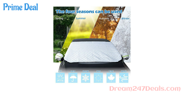 60% OFF Car Windshield Sunshade,Car Snow Cover with Mirror Covers